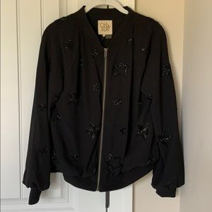 Chaser Star Embroidery Bomber Style Jacket